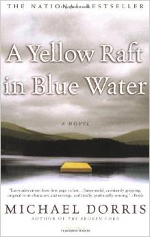 a yellow raft on blue water essay