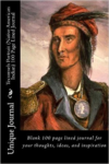 Tecumseh Portrait (Native American Indian) 100 Page Lined Journal: Blank 100 Page Lined Journal for Your Thoughts, Ideas, and Inspiration
