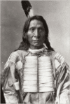 Red Cloud Native American Lakota Chief (Famous Portraits): Blank 150 Page Lined Journal for Your Thoughts, Ideas, and Inspiration