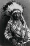 Red Cloud Native American Lakota Chief with Headress (Famous Portraits): Blank 150 Page Lined Journal for Your Thoughts, Ideas, and Inspiration
